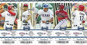 2013-2014-Texas-Rangers-Season-Ticket-Stubs-Mint-Condition-Free-Shipping