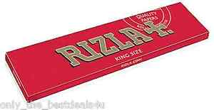 10-BOOKLETS-RIZLA-KING-SIZE-RED-SMOKING-PAPERS