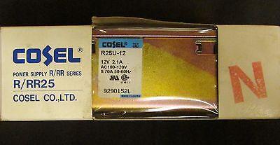 Cosel R25u 12 Rrr25 12v 2.1 Amp Ac 100-120v Power Supply