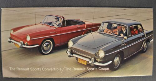 1964 Renault Sm Brochure Caravelle Convertible, Sports Coupe Excellent Original