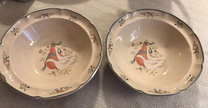 "International China Marmalade 2 Vegetable Serving Bowls 9.25"""