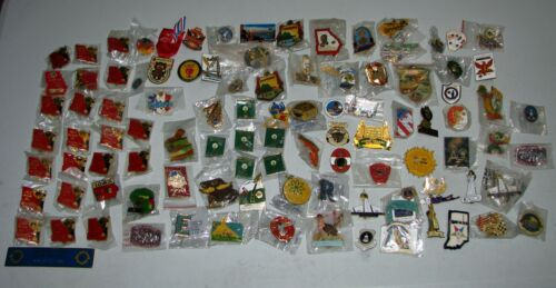 98 Count - Lions Club Pin Lot US & International Life Collection Georgia Florida
