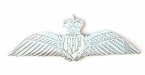 RAF Royal Air Force Pilot Wing Military Silver Sweetheart Pin Badge MOD Approved