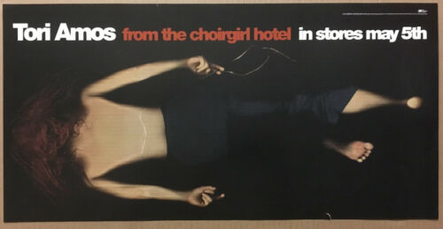 TORI AMOS Rare 1998 TEASER PROMO POSTER for Hotel CD 12x24 NEVER DISPLAYED USA