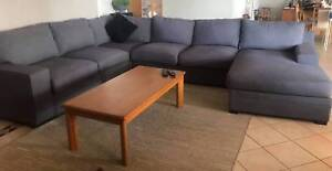 6 seater corner lounge with reversable chaise