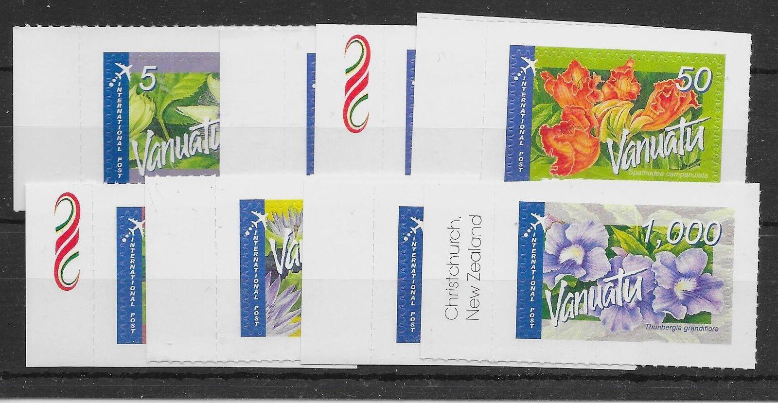 VANUATU SG982a/h 2006 FLOWERS INTERNATIONAL POST SET MNH