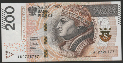 Poland 200 Zlotych 2015 UNC