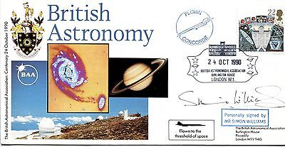 British Astronomy 1990 SIGNED CERTIFIED Simon Williams, Concorde flown