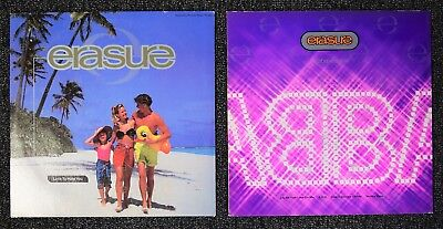 "2 x ERASURE LP Lot Love To Hate You 12"" Single Abba-Esque EP Synth-Pop"