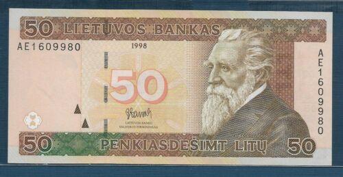 Lithuania 50 Litu, 1998, P 61, UNC