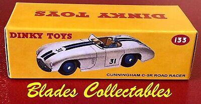 Repro Box Dinky Nr.133 Cunningham C-SR Road Racer