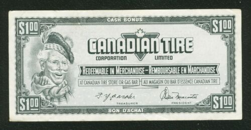 Canadian Tire Money Vintage $ 1  one dollar note FN 1255358