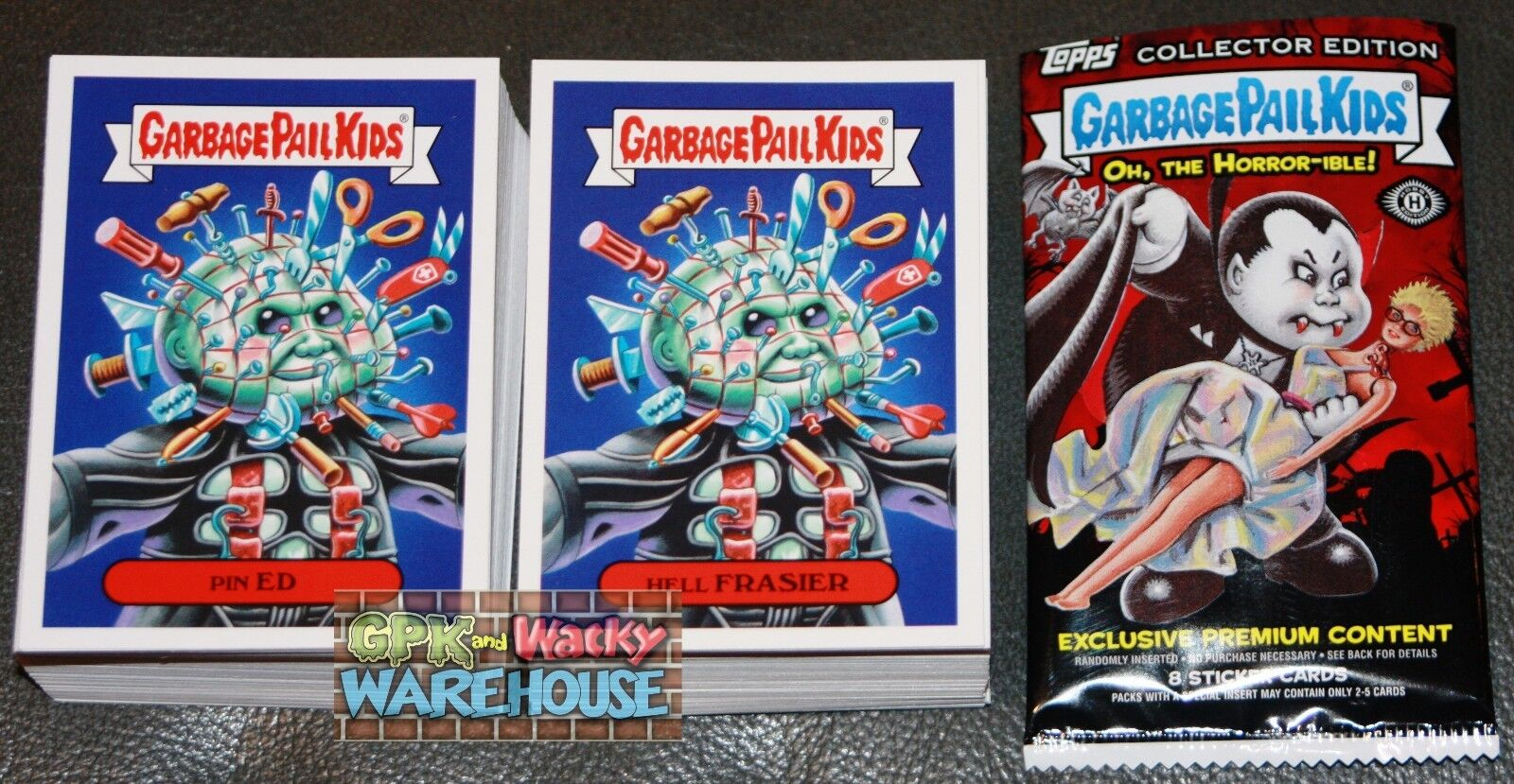 e9dac3ae701 2018 GARBAGE PAIL KIDS OH THE HORROR-IBLE COMPLETE SET 200 CARDS + FREE  WRAPPER