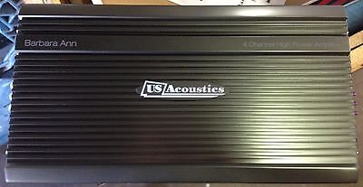 NEW Old School Design US Acoustics 4 Channel amplifier,Amazing SQ,700 watts RMS ()