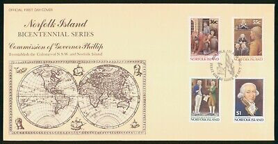 Mayfairstamps Norfolk Island FDC Governor Phillip Combo Earth First Day Cover ww