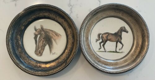 Two Vintage Frank M Whiting Sam Savitt Man O War Assault Coaster Equestrian