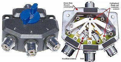 MFJ-2703 800MHz - 1.5Kw - 3-Position Antenna Switch Mfj Antenna Switch