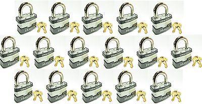 Lock Set By Master 3ka Lot 16 Keyed Alike Commercial Steel Laminated Padlocks