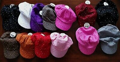 ulk colorful glitter baseball cap + military hat + sun visor (Baseballs In Bulk)