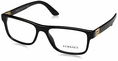 Versace Men's VE3211 Eyeglasses Black 55 Millimeters