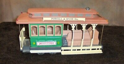 VINTAGE JIM BEAM SAN FRANCISCO CABLE CAR BOTTLE DECANTER FREE SHIPPING