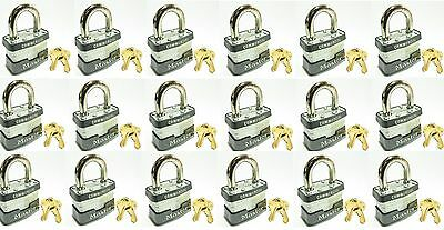 Lock Set By Master 3ka Lot 18 Keyed Alike Commercial Steel Laminated Padlocks