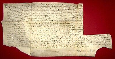 1586 TROPPAU Opava - Schuldverschreibung der Stadt - Pergament SCHLESIEN