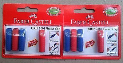 3 1 Faber Castell Eraser Cap Grip 2001 Pvc-free X 2 Packs
