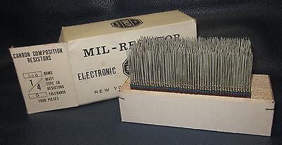 Mil Spec Box Of 14w Watt Carbon Comp 5 Resistors 560 Ohm 1000 Pieces