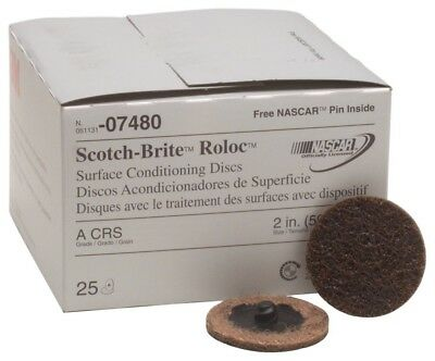 3M™ 07480 Roloc™ Surface Conditioning Disc, 2 in Brown Coarse (25 per