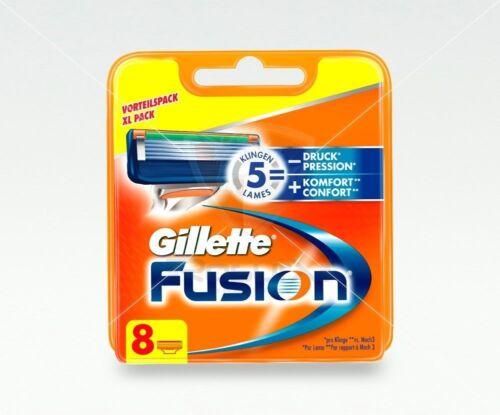 Gillette Fusion Rasierklingen 8 Stück Original Blister-Pack