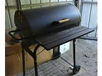 Azuma Barrel Charcoal BBQ Barbecue With Wheels + cover + toolset - used once
