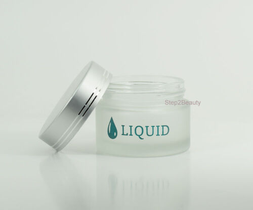 Empty Frosted Glass Jar - 2 oz - Liquid