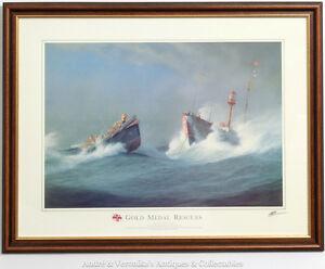 R-N-L-I-GOLD-MEDAL-RESCUES-Print-Ballycotton-CO-CORK-1936-Rescue-Framed-RNLI