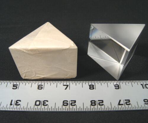 "IOS Large Isosceles Dispersion Prism 2 1/4"" base N-SF11 Flint glass"