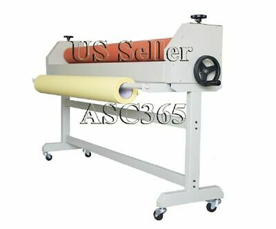 Roll 51 1300mm Manual Cold Laminator Roll Mount Laminating Machine Wooden Case