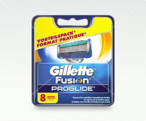 8 Gillette Fusion ProGlide Rasierklingen Original mit Seriennummer Blister-Pack