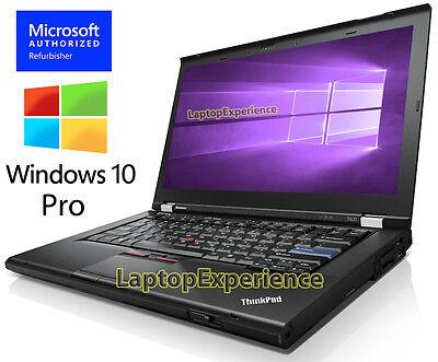 IBM LENOVO THINKPAD T420 LAPTOP i5 2.50ghz 4GB 320GB DVDRW Windows 10 PRO WEBCAM