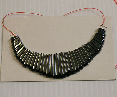LOT OF NATURAL HAEMATITE ART DECO NECKLACE JEWELLERY MAKING 41 STICK 10-30MM N1B