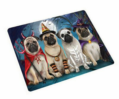 Happy Halloween Pug Dog Woven Throw Sherpa Fleece Blanket NWT (Halloween Pugs)