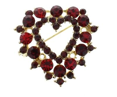 Heart Red Amore Valentines Day Love Rhinestone Bling Brooch Hat Lapel Pin (Valentines Day Hat)