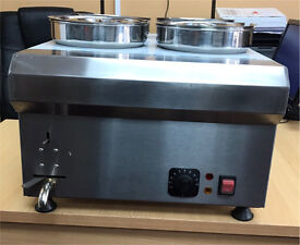 Brand new canmac 4 pots wet bain marie