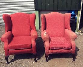 2 x wingback Chairs