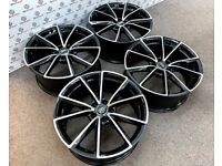"BRAND NEW 18"" 19 AUDI RS STYLE ALLOY WHEELS - GLOSS BLACK ALSO AVAILABLE WITH TYRES - 555"