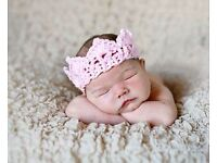 Baby Photo Props Crochet Crown Beanie