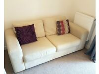 Sofa and Chair - Cream Fabric