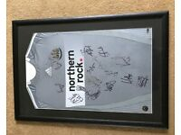 Framed Newcastle United Shirt Signed by Championship Winners