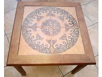 Coffee Table Square Dark Oak Real Hardwood - 50cm x 50cm x 40cm