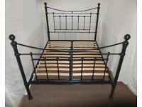 VICTORIAN KING SIZE METAL BLACK BED FRAME