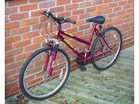 "Ladies/Teen Mountain Bike 19"" frame, 26"" wheels"